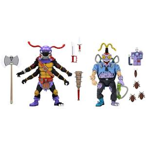 NECA Teenage Mutant Ninja Turtles Antrax and Scumbug 2-Pack 7 Inch Action Figures TMNT Cartoon