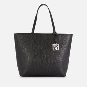 Armani Exchange Women's Liz Zip Top Tote Bag - Black