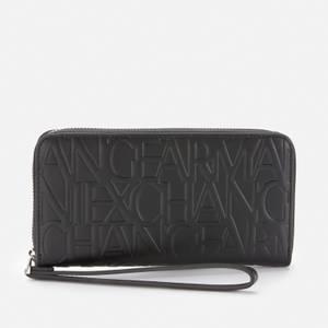 Armani Exchange Women's Liz Zip Around Wallet - Black