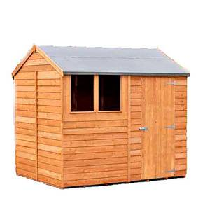Shire Shed Overlap 8x6 Single Door Reverse Apex