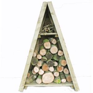 Shire Small Triangular Log Store Tongue and Groove