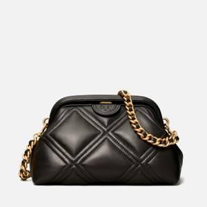 Tory Burch Women's Fleming Small Frame Clutch Bag - Black