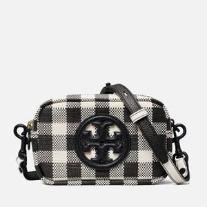 Tory Burch Women's Perry Bombe Gingham Mini Bag - Black/New Ivory