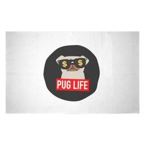 Pug Life Woven Rug