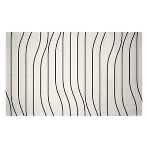 Horizontal Warped Lines Woven Rug
