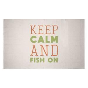 Keep Calm And Fish On Woven Rug