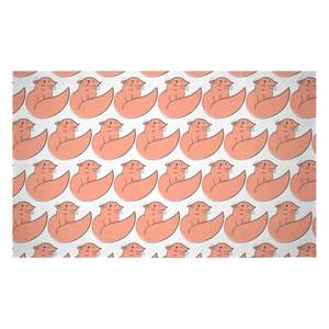 Pink Cat Woven Rug