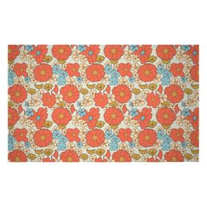 60s Flowers Woven Rug