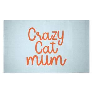Crazy Cat Mum Woven Rug