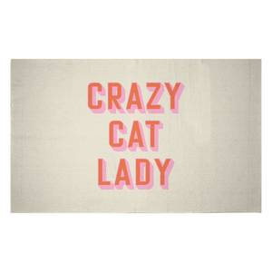 Crazy Cat Lady Woven Rug