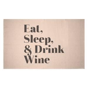 Eat, Sleep & Drink Wine Woven Rug