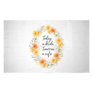 Today A Bride, Tomorrow A Wife Woven Rug