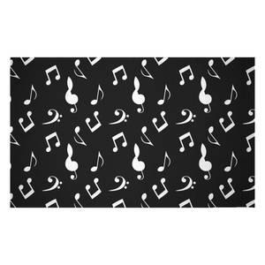 Music Notes Mono Woven Rug