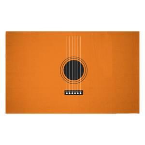 Guitar Close Up Woven Rug