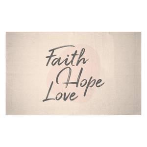 Faith Hope Love Woven Rug