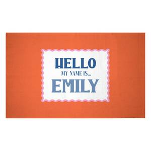 Hello, My Name Is Emily Woven Rug