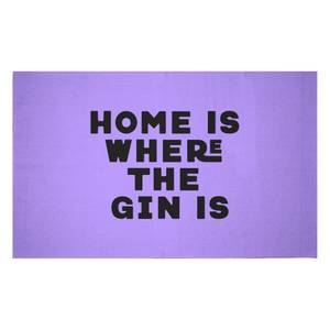 Home Is Where The Gin Is Woven Rug