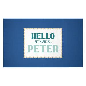 Hello, My Name Is Peter Woven Rug
