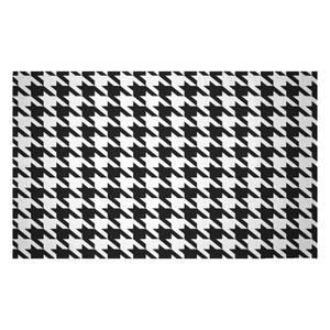 Monochrome Dogtooth Woven Rug