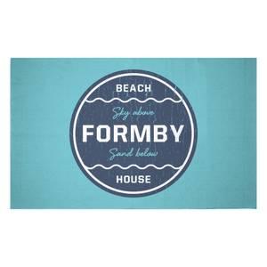 Formby Beach Badge Woven Rug