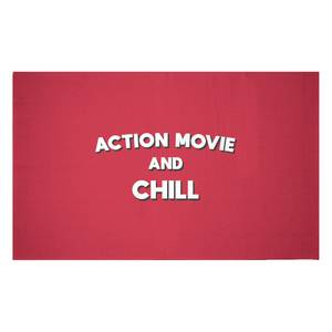 Action Movie And Chill Woven Rug