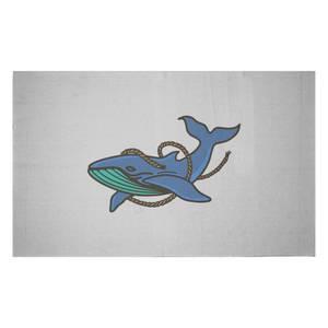 Sea Blue Whale Woven Rug