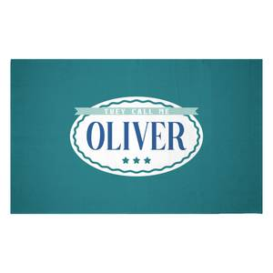 They Call Me Oliver Woven Rug