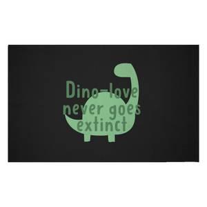 Dino-love Never Goes Extinct Woven Rug