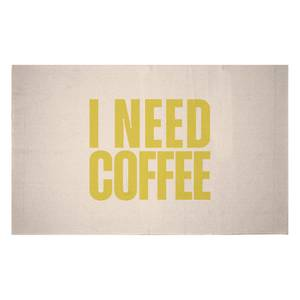 I Need Coffee Woven Rug