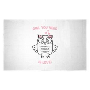 Owl You Need Is Love Woven Rug