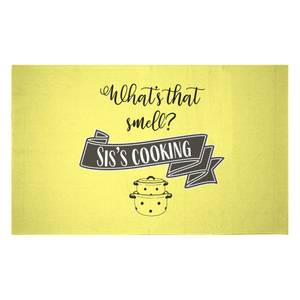 What's That Smell? Sis's Cooking Woven Rug