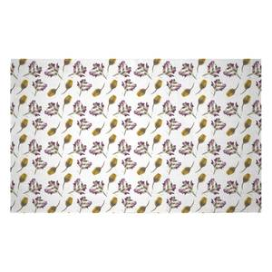 Pressed Flowers Woven Rug