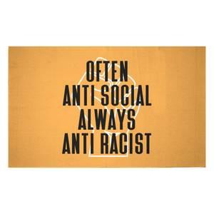 Often Anti Social Always Anti Racist Woven Rug