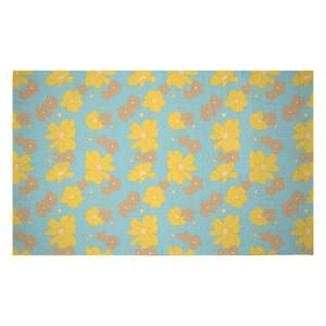 60s Floral Woven Rug