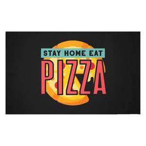 Stay Home Eat Pizza Woven Rug