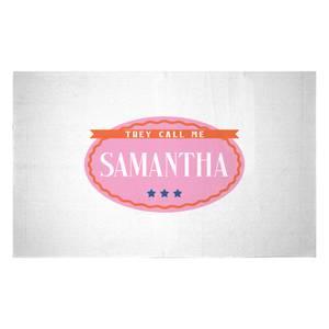They Call Me Samantha Woven Rug