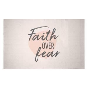 Faith Over Fear Woven Rug