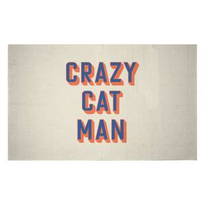 Crazy Cat Man Woven Rug