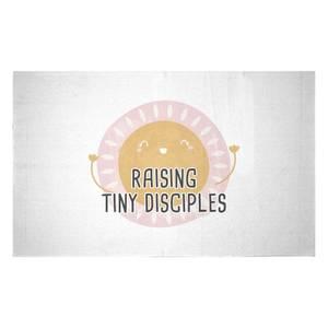 Raising Tiny Disciples Woven Rug