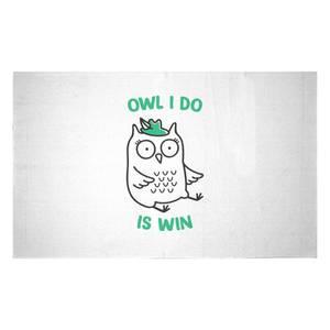 Owl I Do Is Win Woven Rug