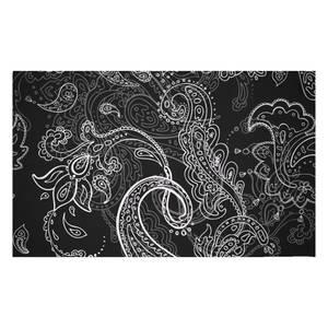 Monochrome Layered Paisley Woven Rug
