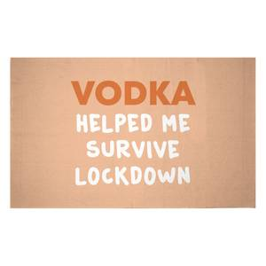 Vodka Helped Me Survive Lockdown Woven Rug