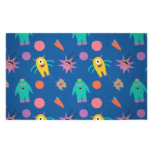 Monster Party Woven Rug