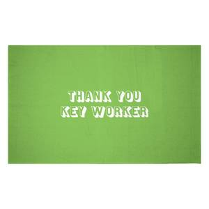 Thank You Key Worker Woven Rug