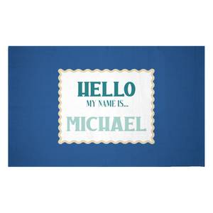 Hello, My Name Is Michael Woven Rug