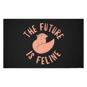 The Future Is Feline Woven Rug