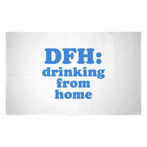 DFH: Drinking From Home Woven Rug