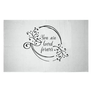 You Are Loved Forever Woven Rug