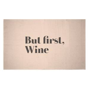 But First, Wine Woven Rug