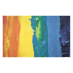 Acrylic Rainbow Woven Rug